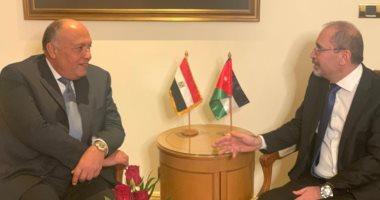 وزيرا خارجية مصر والأردن يؤكدان تمسكهما بحل الدولتين فى فلسطين