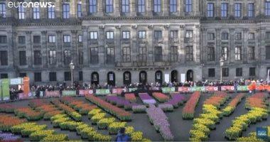 """شاهد.. أمستردام تكتسى بأبهى حلة فى اليوم الوطنى لـ""""التوليب"""""""