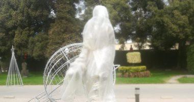 تمثال الفنانة الراحلة فاتن حمامة يصل دار الأوبرا.. اعرف التفاصيل