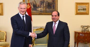 السيسي يتلقى رسالة من ماكرون ويشيد بالعلاقة مع فرنسا