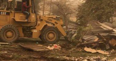 شكوى مصورة ترصد إزالة حديقة بالكامل عمرها 40 سنة لبناء مول تجارى بالمعادى