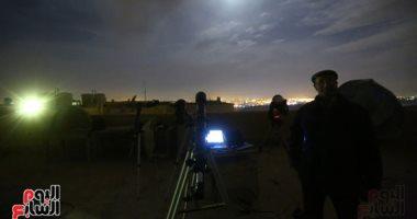 فيديو وصور.. فريق علمى مجهّز بتليسكوبات دقيقة يستعد لرصد خسوف القمر بمعهد الفلك