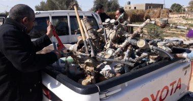 صور.. مجلس بئر العبد بشمال سيناء يواصل إزالة التعديات على خطوط المياه