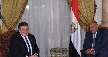 بدء جلسة مباحثات بين وزيرى خارجية مصر وليتوانيا لبحث تطوير علاقات البلدين