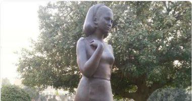 شاهد.. تمثال فاتن حمامة يزين دار الأوبرا المصرية