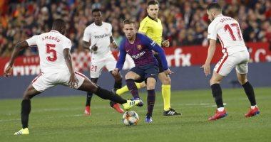 برشلونة يحقق رقما سلبيا ضد إشبيلية فى كأس آسبانيا
