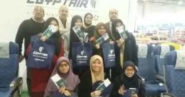 وفد ماليزى يشيد بتجربة طيران فى جناح مصر للطيران بمعرض الكتاب