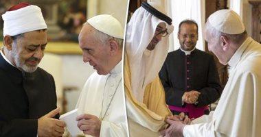 ولى عهد أبوظبى يجدد ترحيبه بزيارة بابا الفاتيكان وشيخ الأزهر للإمارات
