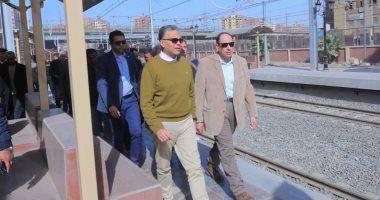 وزير النقل يتابع التشطيبات والأعمال النهائية لتطوير محطة المرج الجديدة (صور)