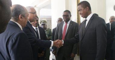 وزير الزراعة يبحث مع رئيس زامبيا التعاون المشترك وينقل إليه تحيات الرئيس السيسى