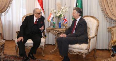 تفاصيل لقاء بهاء الدين أبو شقة بالسفير البريطانى فى حزب الوفد