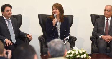 """وزيرة التضامن تشارك فى ندوة """"الحماية الاجتماعية فى الوطن العربى"""" بمعرض الكتاب"""