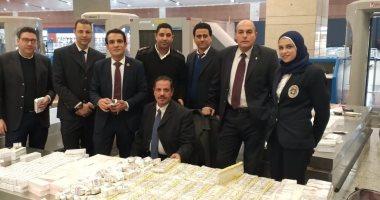 جمارك مطار القاهرة تضبط محاولة تهريب كمية كبيرة من الأدوية باهظة الثمن