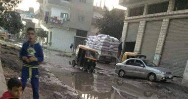 شكوى من انتشار مياه الصرف الصحى بقرية الحملية فى أبو حماد بالشرقية