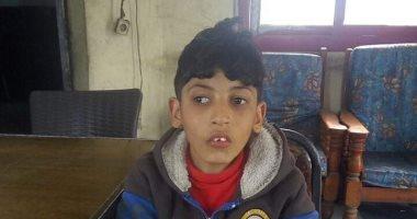 العثور على طفل من ذوى الاحتياجات الخاصة فى ميدان المنيب بالجيزة