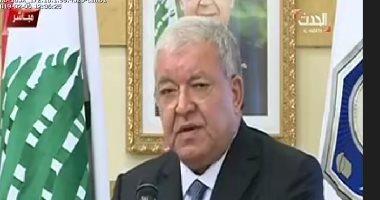 وزير الداخلية اللبنانى السابق يسلم مهام منصبه للوزيرة الجديدة ريا الحسن