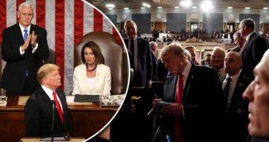 ترامب تحدى الكونجرس ويؤكد التزامه بمواجهة الهجرة غير الشرعية