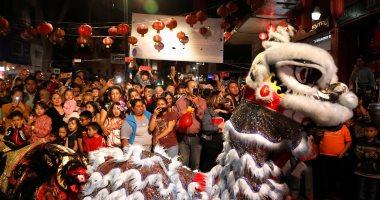 عروض فنية راقصة فى احتفالات المكسيك بالسنة القمرية الجديدة