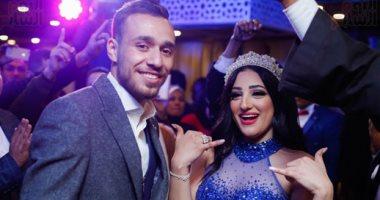 نجوم الزمالك فى حفل خطوبة محمد عنتر و دنيا الحلو