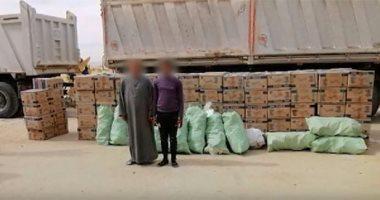 ضبط 80 ألف علبة سجائر و15 ألف حفاضات أطفال مجهولة المصدر فى بنى سويف