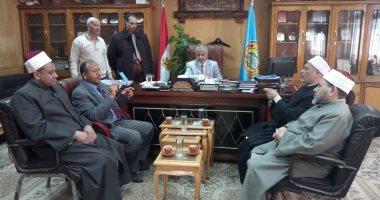 """نائب رئيس جامعة الأزهر يستقبل وكيل وزارة الأوقاف لتفعيل مبادرة """"أسيوط بلا ثأر"""""""