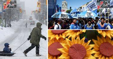 صور.. العالم هذا الصباح.. احتفالات فى الفلبين وتايلاند بعيد الحب.. استمرار العواصف الثلجية على كندا وإلغاء مئات الرحلات الجوية.. وتظاهرات فى الأرجنتين احتجاجا على زيادة أسعار السلع وسط أزمة اقتصادية