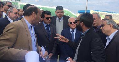 صور.. وزير الرياضة ومحافظ بورسعيد يتفقدان النادى المصرى استعدادا لأمم أفريقيا