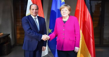 السيسى يلتقى ميركل ويعرب عن تقدير مصر لما تشهده العلاقات المصرية الألمانية
