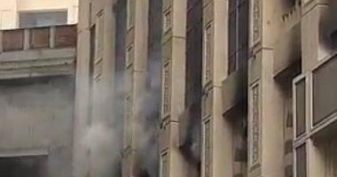 الحماية المدنية تسيطر على حريق شقة سكنية فى حلوان بدون إصابات