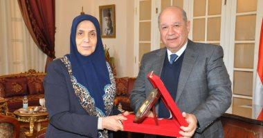 صور.. رئيس مجلس الدولة يستقبل نظيره العراقى لبحث سبل التعاون