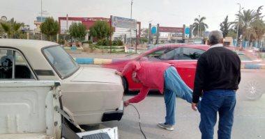 البيئة تجرى حملة لفحص عوادم السيارات بالإسماعيلية وتوعية قائدى المركبات بأضرارها