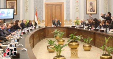 وكيل النواب يستقبل اعضاء الحوار المصرى الأمريكى بمقر البرلمان
