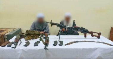 فيديو.. ضبط جرينوف وأسلحة ثقيلة بحوزة متهمين بقنا