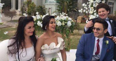 """شاهد.. زواج حمادة هلال ورانيا منصور فى مسلسل """"ابن أصول"""""""