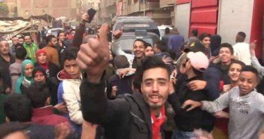 """فيديو.. أحنا اللى أحبطنا الإرهاب.. فرح شعبى فى إمبابة على شرف """"قنبلة"""""""