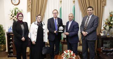 رئيس الأكاديمية العربية للعلوم والتكنولوجيا والنقل البحرى يستقبل سفير النرويج