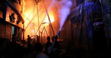 صور.. مصرع 56 شخصا على الأقل فى حريق ببنجلاديش