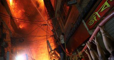 حريق مستودع مواد كيميائية