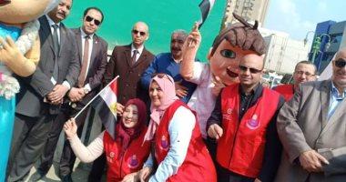 صور.. مسيرة تعريفية لحملة 100 مليون صحة بشوارع الزقازيق