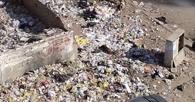 قارئ يشكو من انتشار القمامة بشارع بالحى العاشر فى مدينة نصر