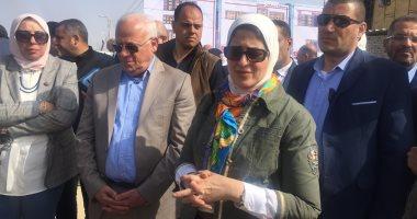 فيديو وصور .. وزيرة الصحة تتفقد مستشفى بحر البقر ببورسعيد