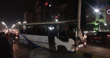 صور.. إصابة 10 أشخاص فى حادث تصادم بكوبرى الدقى