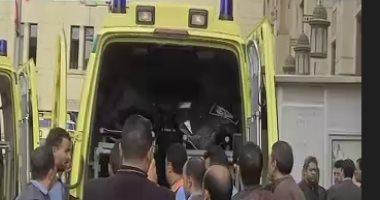 إصابة 6 أشخاص من أسرة واحدة بينهم 3 أشقاء فى حادث مرورى بملوى