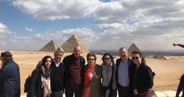 جولة سياحية لرئيس الاتحاد الدولى للخماسى الحديث بالاهرامات
