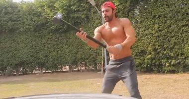 """فيديو وصور .. تدريبات بدنية عنيفة لمحمد إمام من أجل """"هوجان"""""""