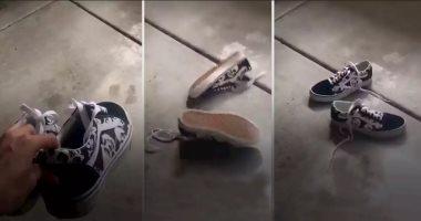 """فيديو.. لما تلاقى """"الحذاء فى الهوا"""".. ماتقلقش ده تحدى جديد.. اعرف التفاصيل"""