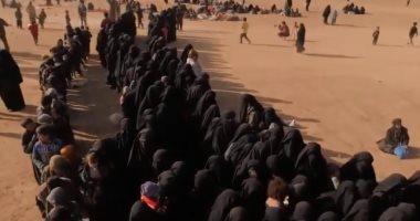 شاهد.. إجلاء زوجات وأطفال مسلحى داعش من آخر معاقل التنظيم فى سوريا