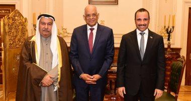 على عبد العال يستقبل مرزوق على الغانم رئيس مجلس الأمة الكويتى
