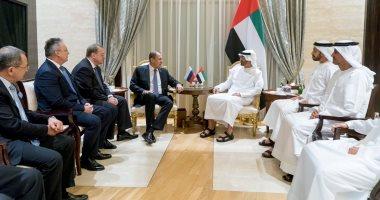 محمد بن زايد يتلقى اتصالا من ترامب ويستقبل وزير خارجية روسيا