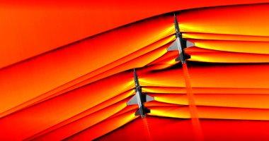 ناسا تلتقط أول صورة لاختراق طائرتين موجات حاجز الصوت 20190308014102412